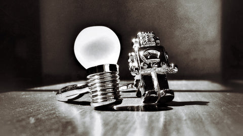 Robot and Light Bulb Cufflinks