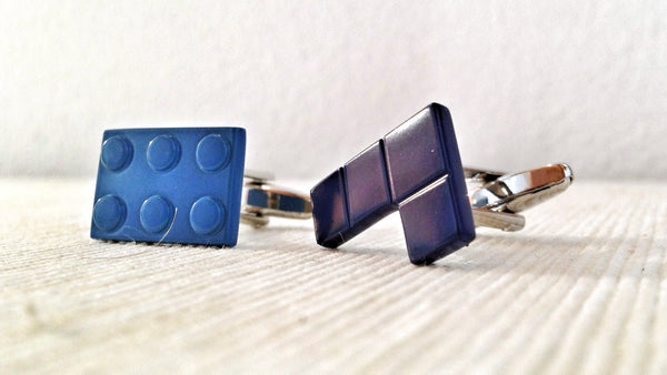 Lego and Tetris Cufflinks