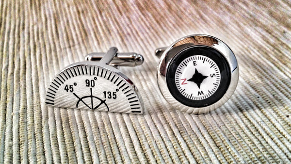 Protractor and Compass Cufflinks