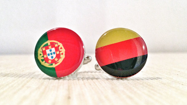 Portuguese and German Flag Cufflinks