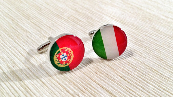 Portuguese and Italian Flag Cufflinks