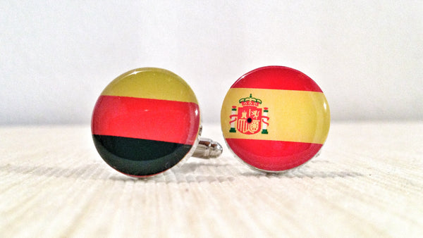 German and Spanish Flag Cufflinks