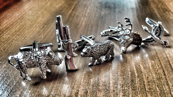 Animal Hunting Cufflink Set