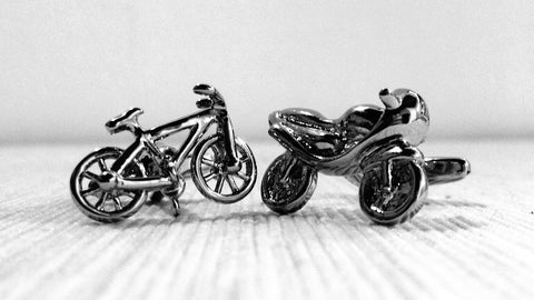 Bicycle and Motorbike Cufflinks