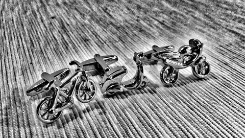 Spinning Your Wheels Cufflink Set