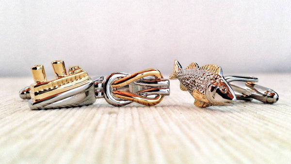 Fisherman Cufflink Set