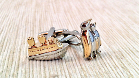 Boat and Penguin Cufflinks