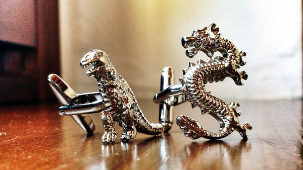 Godzilla and Dragon Cufflinks