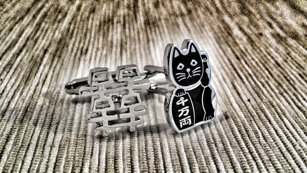 Chinese Cat and Character Cufflinks