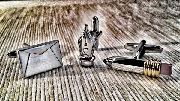 Writers Cufflink Set