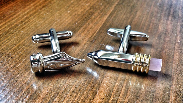 Pen and Pencil Cufflinks