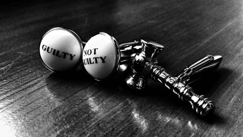 Guilty or Not Guilty Cufflink Set