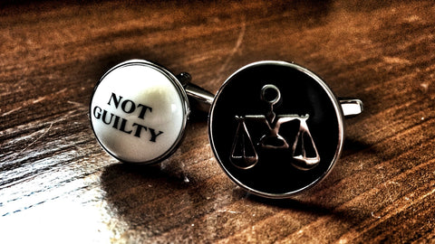 Scales of Justice and Not Guilty Cufflinks