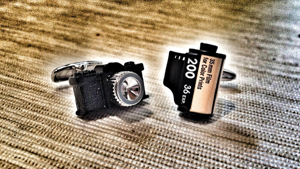 Camera and Roll Film Cufflinks