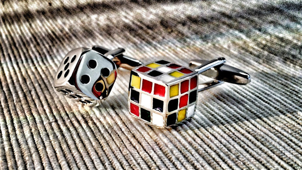 Dice and Rubik's Cube Cufflinks