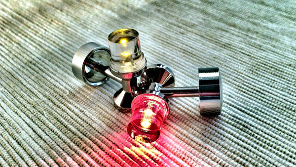 Yellow and Red LED Cufflinks