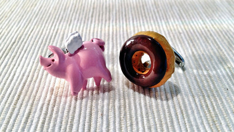 Spider Pig and Donut Cufflinks