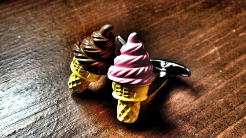 Choco and Strawberry Ice Cream Cufflink