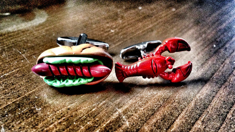 Hotdog and Lobster Cufflinks