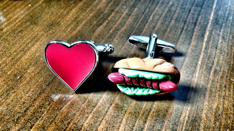 I Love Hotdogs Cufflinks