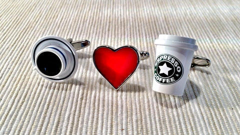 I Love Coffee Cufflink Set