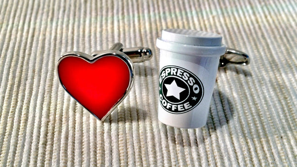 I Love Starbuck Cufflinks