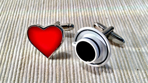 I Love It Black Cufflinks