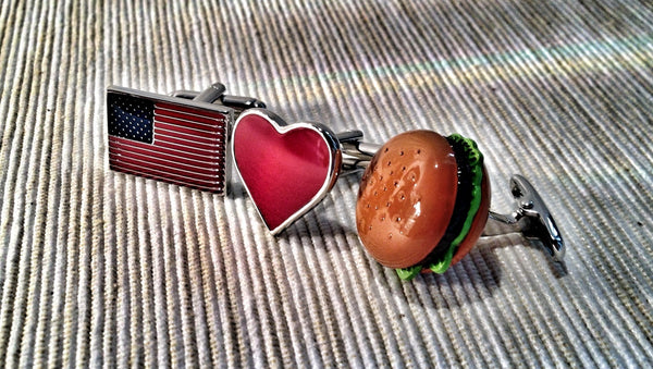 America Loves Burgers Cufflink Set
