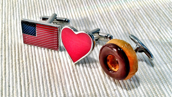 America Loves Donuts Cufflink Set