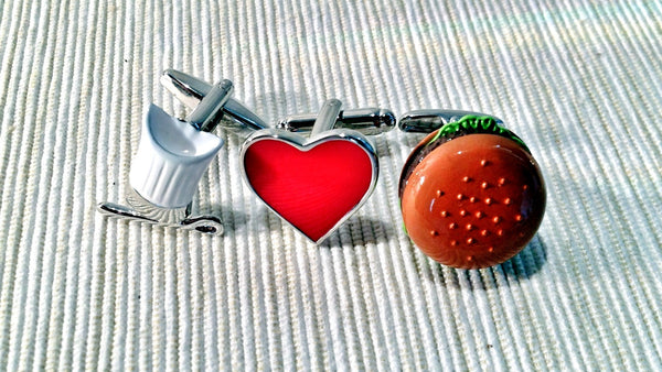 Junk Food Lovin' Chef Cufflink Set