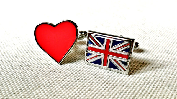 Union Jack Love Cufflinks