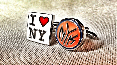 I Love New York and the Knicks Cufflinks