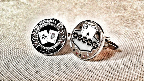 Black Jack and Poker Cufflinks