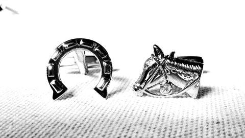 Horseshoe and Horse Head Cufflinks