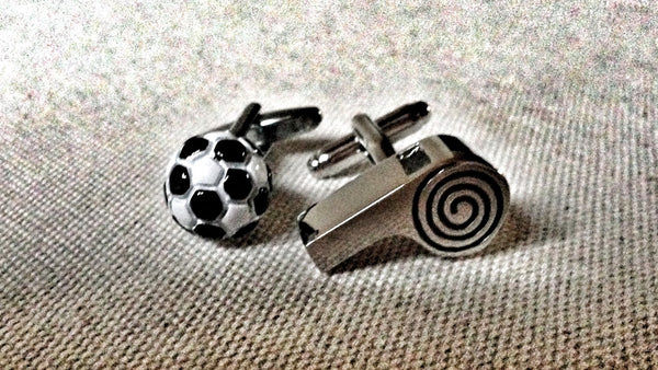 Football and Whistle Cufflinks