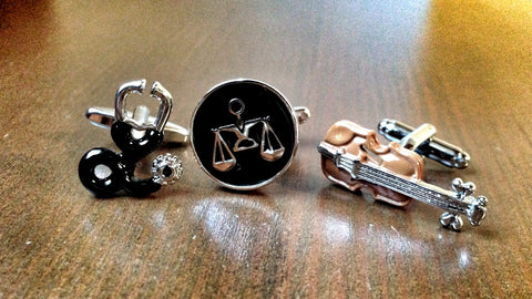 Doctor, Violonist or Lawyer Cufflink Set