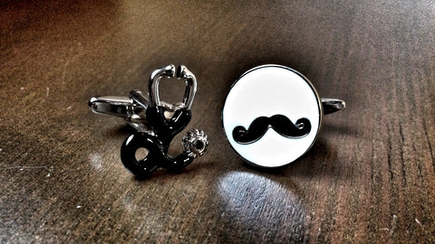 Doc Moustache Cufflinks