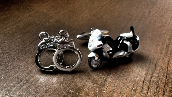Riding A Motorcycle Cufflinks
