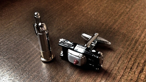 Bullet and Police Car Cufflinks