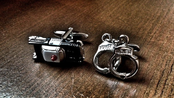 Police Car and Handcuffs Cufflinks