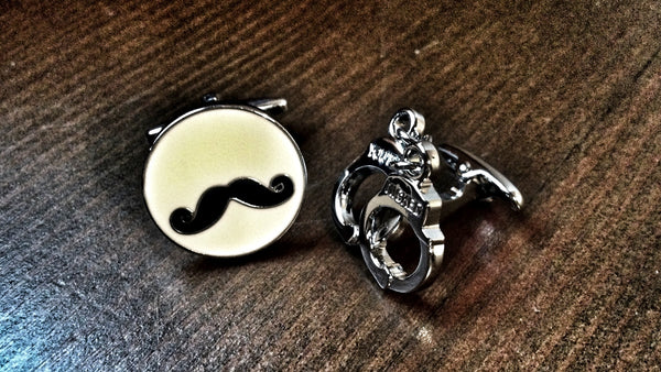 Rip That Moustache Off Cufflinks