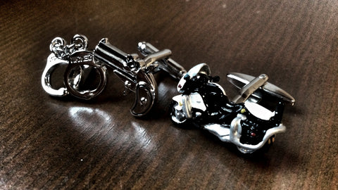 I Hate Guns Cufflink Set