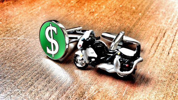 Corrupt Police Officer Cufflinks