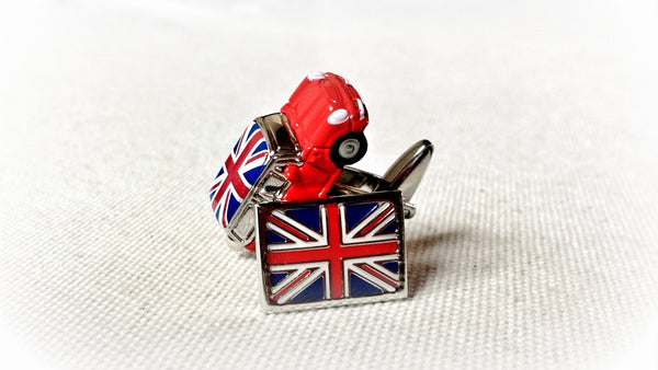 Mini Cooper Union Jack Cufflinks