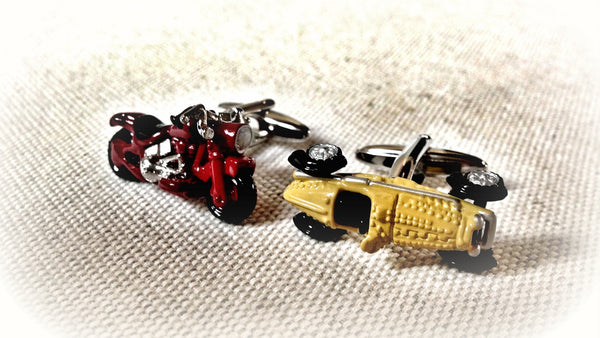 Harley Davidson Motorcycle and Bugatti Cufflinks