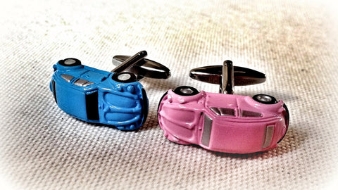 Blue Beetle and Pink Beetle Cufflinks
