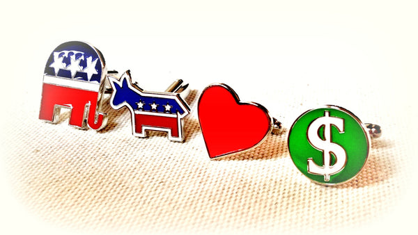 Loving US Election Cufflink Set