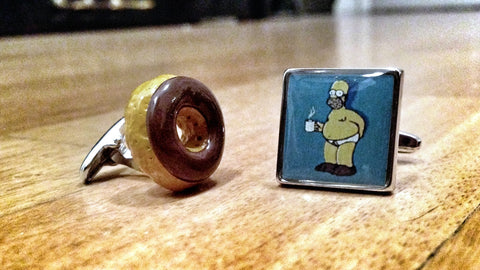 Homer Simpson's Donut Cufflinks