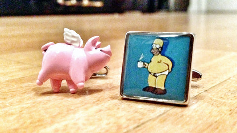 When (Spider) Pigs Fly Cufflinks