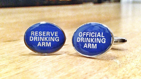 Competitive Fratboy Drinker Cufflinks